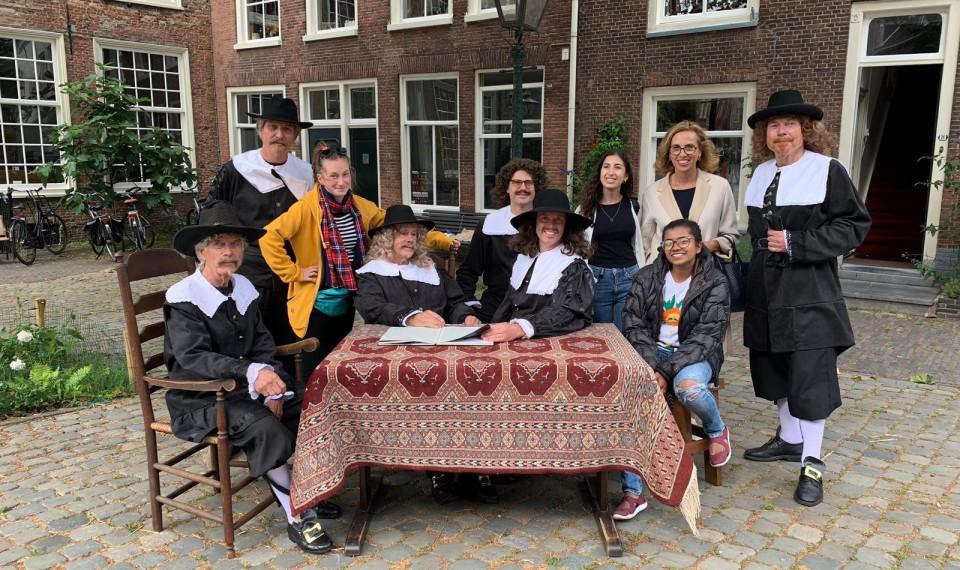Lions Youth Exchange gasten in Leiden